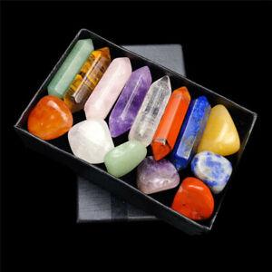 7 Chakras Reiki Healing Natural Stone Set Yoga Meditation Amulet Pendant Decor