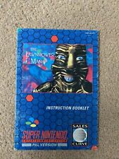 The Lawnmower Man Instruction Booklet Manual, Super Nintendo, SNES. Free Postage