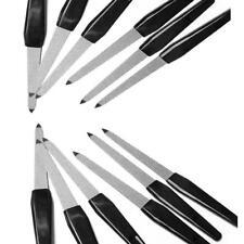 5pcs schwarzer Griff doppelseitige Nagelfeilen starke Kante Maniküre Werkze D8C1