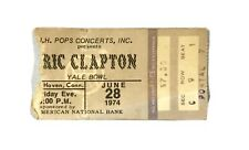 1974 Eric Clapton concert ticket stub Yale Bowl New Haven, Ct Sec C Row 9 Seat 1