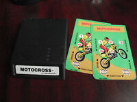 Vintage 1983 Intellivision White Label Motocross Video Game Cartridge w Overlays
