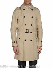 DSQUARED2 DSQ2 Beige 100% COTTON DB Trench Coat BNWT Made In ITALY Ita 54/Uk44