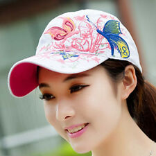 Femme Casquette Baseball Broderie Papillon Fleur Chapeau Bonnet Soleil Réglable