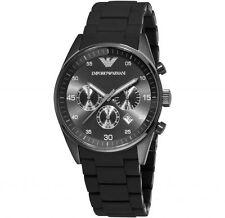100% ORIGINALE NUOVO EMPORIO ARMANI da Uomo con Cronografo Classico Nero Watch ar5889