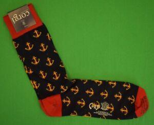 Corgi Navy Socks w Gold Anchor Motif (New w Tag!)