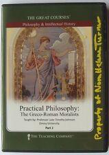 Practical Philosophy Greco-Roman Moralists Part 2, The Great Courses 2 DVDS, OOP