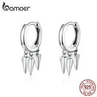 BAMOER Fine Women Earrings S925 Sterling silver Geometric earrings Jewelry Gift