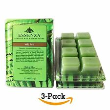 ESSENZA Scented Wax Warmer Cube Melts 7.5 oz WILD FERN 3-Pack 8 Cubes Pack (24)