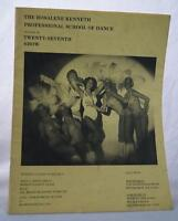 Vintage Rosalene Kenneth Professional School Of Dance 27th Show Program tthc