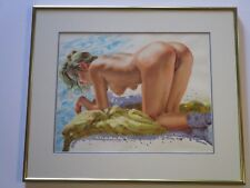 BODO NUDE PAINTING EROTICA VINTAGE FEMALE PORTRAIT PRETTY WOMAN MODEL REALISM