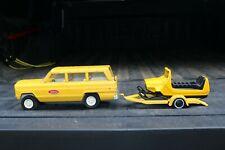 Tonka Toys No 80 Jeep Wagoneer, Ski Doo and trailer - pressed steel