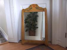 1930's CORONADO Monterey Hand Painted Wall Hanging Wood Mirror