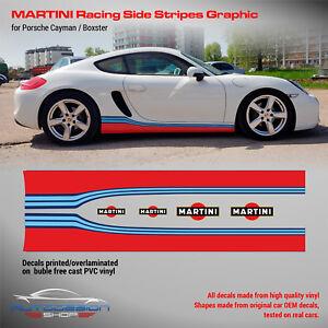 Porsche Cayman / Boxster Martini side stripes design decals set