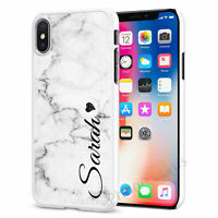 Personalised Marble Phone Case Cover for Apple iPhone Initial Text Name 070-5