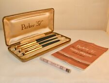 VINTAGE PARKER 51 CUSTOM FOUNTAIN PEN, BALLPOINT & ROTARY PENCIL TRIPLE SET