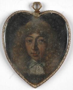 """Portrait of Samuel Pepys"", Anglo-Dutch School, oil miniature on copper"