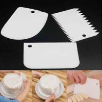 3x Kunststoff Kuchen Teigschaber Icing Backen Fondant Pastry Decor Küchenhelfer