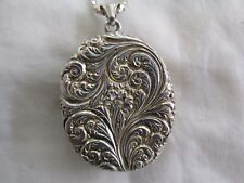 Sterling Silver Locket and Chain Very Attractive