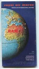 ROYAL AIR MAROC TIMETABLE NOVEMBER 1978 - MARCH 1979 MOROCCO RAM NO.56