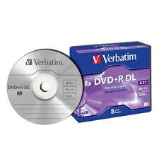 ($9.00 P&H) Verbatim DVD+R DL 8.5GB 5Pk 8x 43541 Ver 1.2 MKM 003