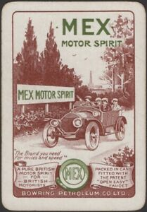 Playing Cards Single Card Old Antique Wide MEX MOTOR SPIRIT Petrol Advertising B