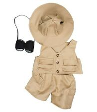 "Safari 4 piece outfit teddy bear clothes fits 15"" Build a Bear"