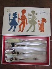 Vintage Wirths Kinderbesteck 4 piece Stainless Children Childs Flatware Set