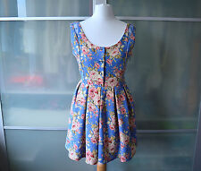 AUTHENTIC Liz Lisa blue floral jumpsuit playsuit ~ NEW ~ Japan Lolita Japanese
