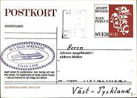Ganzsache Sverige PK Schiffspost Schiff MS SILJA SERENADE Paquebot ab Helsinki