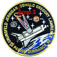 NASA Endeavour 2nd Astro-2 Shuttle Mission Flight STS 67 Astronauts Space Patch