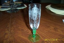 TIFFIN ETCHED CLASSIC PARFAIT GREEN FOOT