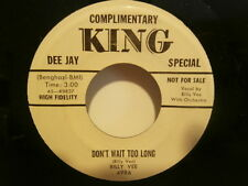 "billy vee""don't wait too long""single7""or.usa:king:k9837 promo ultra rare"