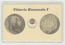 Re di Sardegna,Tessera + Moneta 5 Lire Placcata Oro V.Emanuele I° [af65]