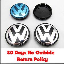 Tapones De Centro De Rueda De Aleación VW Volkswagen x4 55mm 56mm PASSAT POLO GOLF BORA LUPO 4x