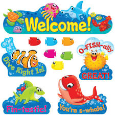 "Sea Buddiesâ""¢ Welcome Bulletin Board Set Trend Enterprises Inc. T-8307"