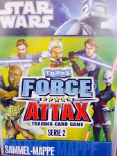 TOPPS STAR WARS Force Attax Trading Cards SammelMappe Serie 2 LE1 LE2 Limitiert