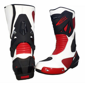 Kwisy New Model LEATHER RACING Motorbike Shoes Motorcycle Boots