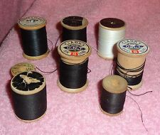 Lot of 8-Wooden Spools of Thread-Wooden Spools Are No Longer Made,Great Collecti