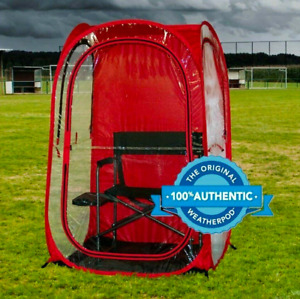 InstaPod Under the Weather Pop-Up Canopy Tent, Durable Weatherpod, XL, Red