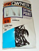 OWNER GORILLA Cutting Point 5305-141 Size 4/0 23 HOOKS PER PACK