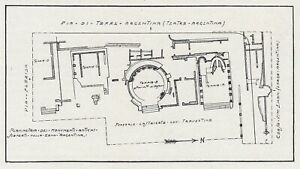 E1569 Rome Antique - Plant General Dell' Area With Quattro Temples - 1929 Map