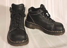 NEW Dr. Martens black leather ankle boots womens shoes Doc's size 6.5 / 7 WOW