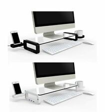 iTREND Smart Monitor Stand  Desktop Storage organiser with USB2.0 or USB3.0 Hubs