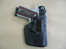 Rock Island 1911 Compact IWB Leather In Waistband Concealed Carry Holster Black