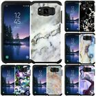 For Samsung Galaxy S8 / S8 Plus / S8 Active Marble Design Slim Hybrid Case Cover