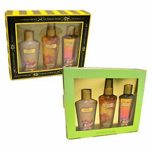 Victoria's Secret Coconut Passion Gift Set 3 Piece Body Mist Wash Lotion Bag Vs