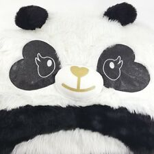 3801257985 Justice Huge WARM   COZY Panda Bear Sleeping Bag Step In Blanket Black  White EUC