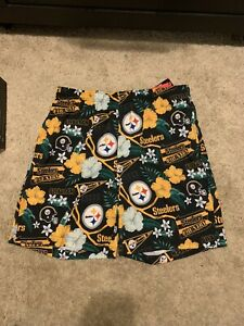 Mens FOCO Steelers Floral Swimsuit