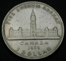 CANADA 1 Dollar 1939 - Silver - George VI. - Royal Visit - VF - 2800