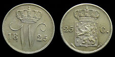 Netherlands - 25 Cent 1825 U